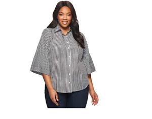 Lauren Ralph Lauren Gingham Bell Sleeve Shirt