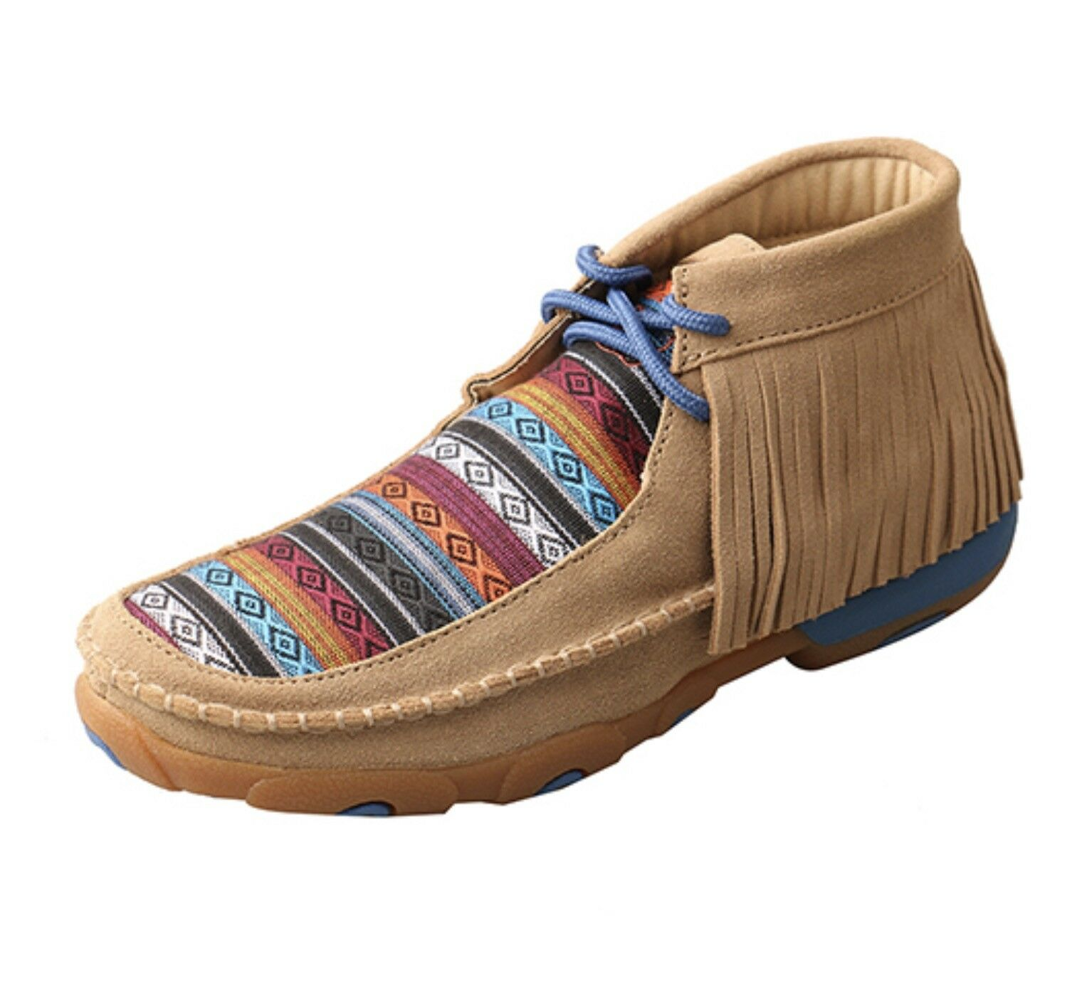 Women's Twisted X Driving Moc-Serape Fringe, Style WDM0064