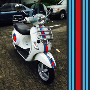 1x-Martini-Racing-Streifen-42x10-cm-Aufkleber-Sticker-Vespa-Dekor-Motorrad-PKW