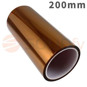 200mm-Polyimide-Tape-Hitzebestaendiges-Klebeband-Polyimid-Kapton-3D-Drucker-33m