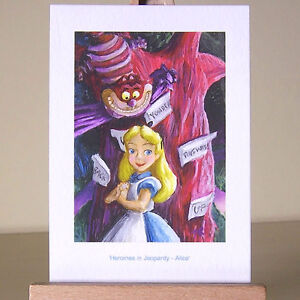 WDCC-Alice-in-the-darkest-Wonderland-wood-with-the-Cheshire-Cat-drawing-as-ACEO