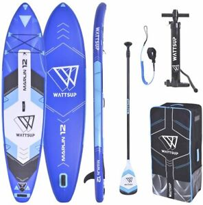 "WattSUP MARLIN 12'0"" SUP Board Stand Up Paddle Surf-Board Paddel ISUP 365x83cm"