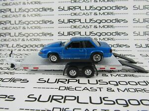 Greenlight-1-64-LOOSE-Track-Day-1989-FORD-MUSTANG-LX-5-0-Drag-w-Car-Trailer-3