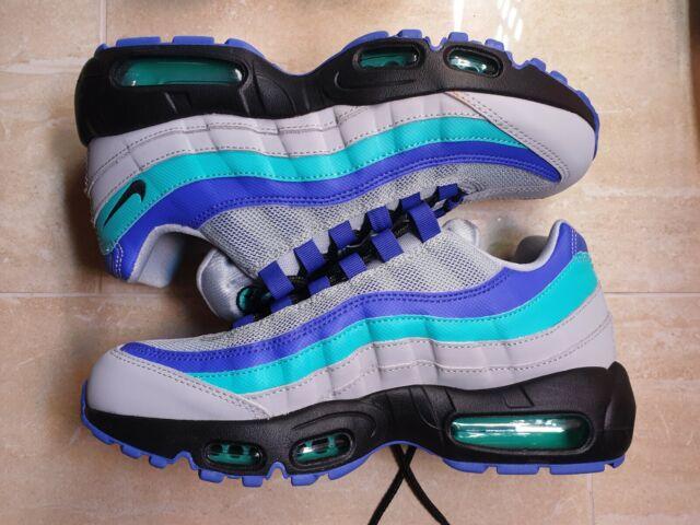 more photos a0d17 3603c Nike Air Max 95 OG Aqua Grape Indigo Purple Blue Grey At2865-001 Sz 6 M W  7.5