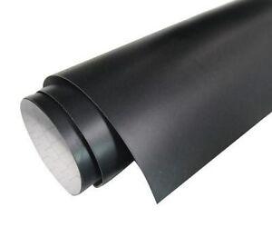 5MTR ROLLS x2 OF MATT BLACK SELF ADHESIVE STICKY VINYL - FABLON