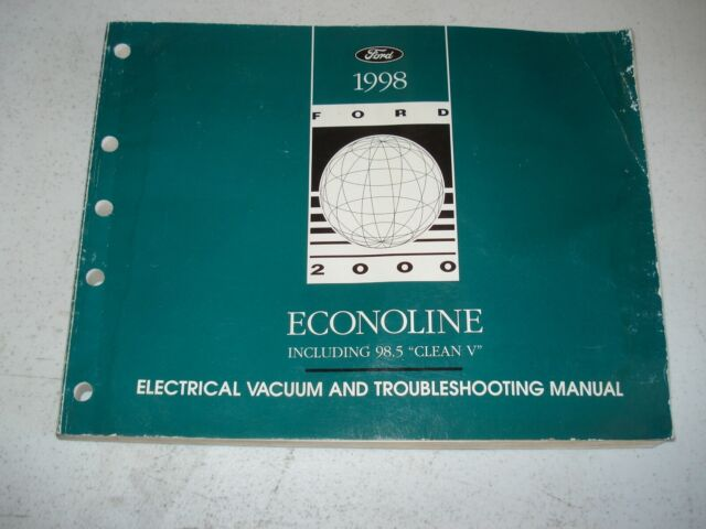1998 Ford Econoline Van Wiring Diagrams Service Manual Shop Book