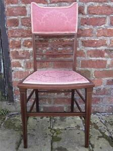 Very Pretty In Pink Antique Edwardian Bedroom Salon Chair Lovely Quality Amp
