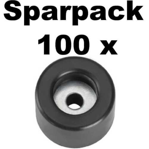 100 Gummifüße 25x15 stahlverstärkt Adam Hall 4904 Gummifuß Geräte Gehäuse Füße