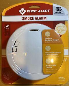 New First Alert Smoke Alarm 10 Yr Battery Slim Profile Design Model P1210 29054014481 Ebay