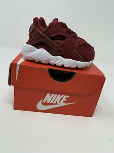 c4993b3a4b68 Image is loading BABY-BOYS-Nike-Huarache-Run-Shoes-Dark-Red-