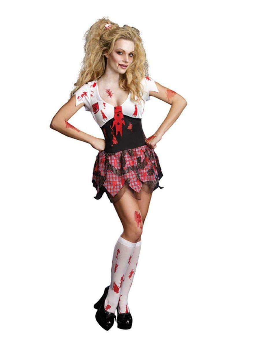 Sexy High School Horror Ghoul Dress Costume Adult