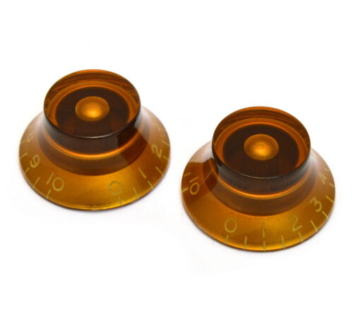 Amber Bell Knobs for Gibson® /& Guitar//Bass w//CTS 6mm Split Pots PK-0140-022 2