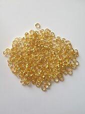 1000 pcs Gold Plated Split Double Open Jump Rings 5mm Jewelry 54G Finding Ring