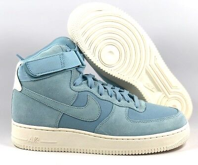 new styles dcbc6 ec70a Nike Air Force 1 High  07 Suede Light Blue White AQ8649-400 Men s 9