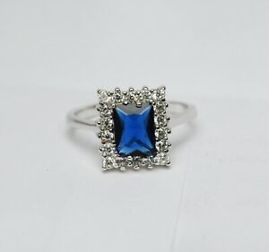 925-Solid-Silver-Natural-Certified-6-Carat-Blue-Sapphire-Engagement-Ring