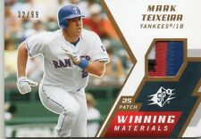 MARK TEIXEIRA 2009 UD SPX WINNING MATERIALS GAME-USED 4 COLOR PATCH CARD 32/99