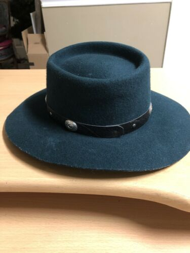 Rockmount Ranch Wear GREEN Cowboy hat MED Wool lad