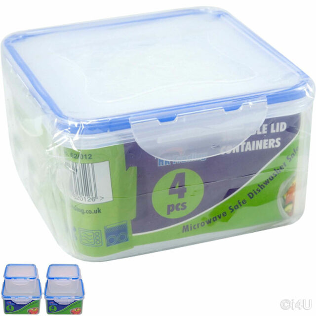 Glasslock 2pcs set Strong Tempered Glass square Food Storage Container