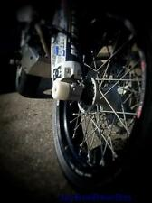 SUZUKI DRZ 400 SUPERMOTO CRASH MUSHROOM FRONT AXLE SLIDER BOBBINS 2007 BUNGS S6H