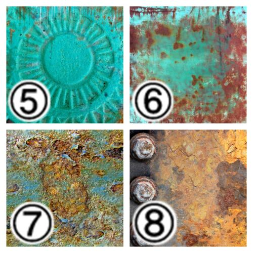 Outdoor Vinyl,Heat Transfer Vinyl Rusted Corroded Metal Textures Vinyl SKU 0322