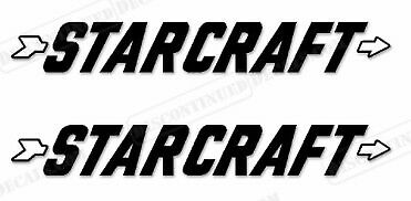 """MARINE GRADE YOUR COLOR CHOICE 154 PAIR OF 4.5/""""X28/"""" STARCRAFT BOAT HULL DECALS"""