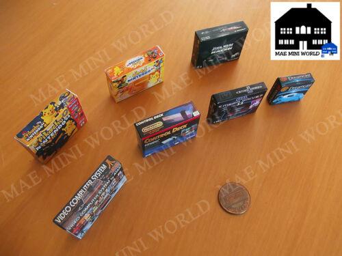 7 Cajas consolas miniatura Escala 1//12.