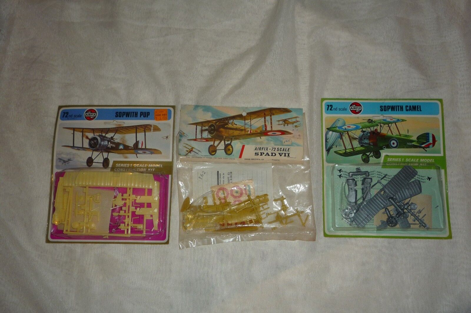 Lot of 3 Vintage 60s & 70s Airfix 1 43 Scale Aircraft Planes SPAD VII SUPWITHS