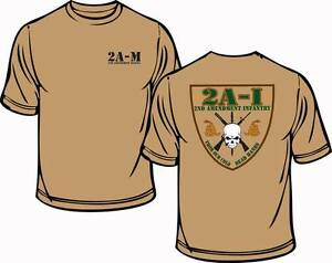 2nd Amendment Militia Infantry T Shirt Pro 2nd Amendment Anti Gun