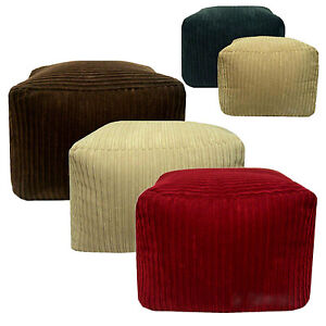 Chunky Cord Large Beanbag Square Seat Footstool Pouffe