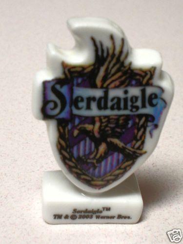 Harry Potter Mini Porcelain Figurine Ravenclaw Crest Shield Epiphany King/'s Bean