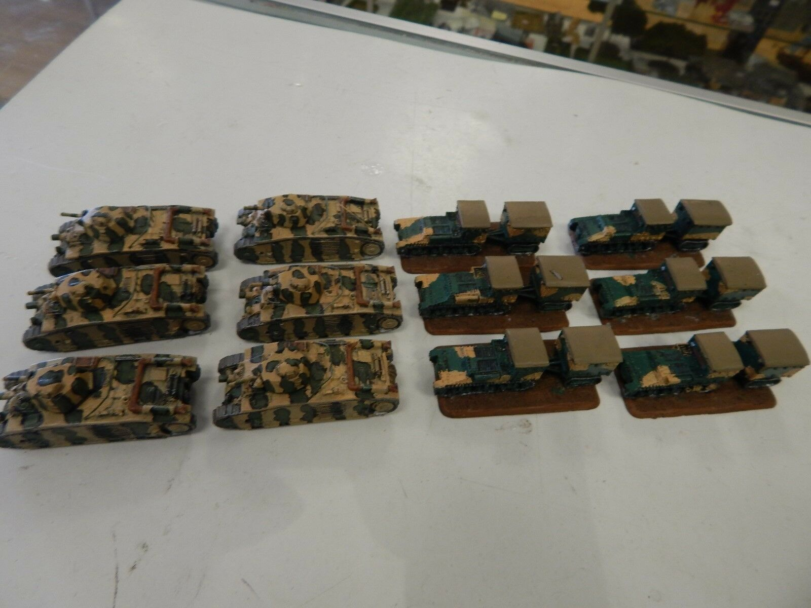 6 Char B tanks and 6 Renault UE carriers