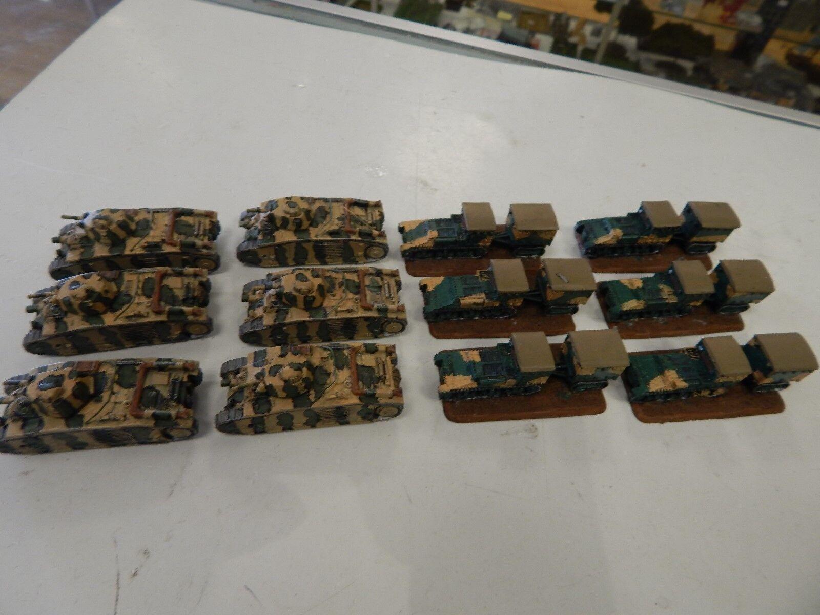6. char b panzer und 6 renault ue.