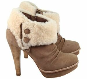 d6c58f3ef9d Details about UGG® AUSTRALIA GEORGETTE FAWN SUEDE ANKLE BOOTS UK 6.5 EUR 39  USA 8 RRP £190