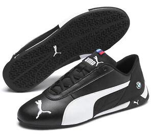 PUMA-Chaussures-sportive-Hommes-Chaussures-De-Course-BMW-MMS-R-Cat-Noir-Blanc