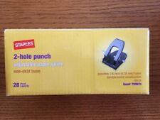 New Staples 2 Hole Punch 14 Inch Holes 28 Sheet Capacity 799825
