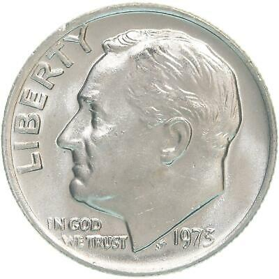 1973 P Roosevelt Uncirculated Dime ~ Raw Coin from Bank Roll