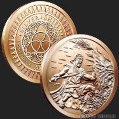 3 2017 Silver Shield Crucible 1 oz Copper BU round