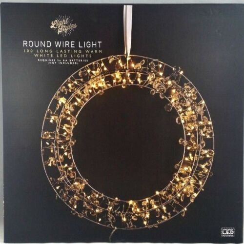 Round Wire Light 100 Long Lasting  warm White LED Lights Perfect For Decor