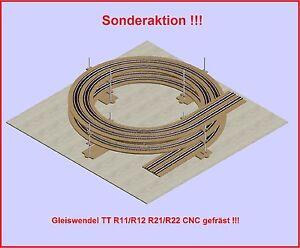 Rampe Helicoïdale Double Voie R11/r12 Et R21/r22,2 Rotations Fabriqué Par Cnc