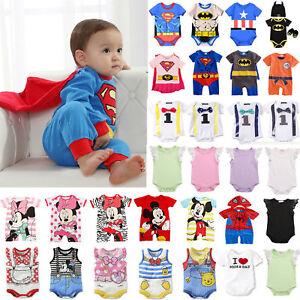Newborn-Baby-Boys-Girls-Cartoon-Romper-Bodysuit-Jumpsuit-Outfit-Clothes-Summer