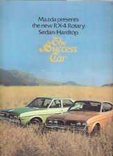 Mazda RX-4 1973-74 UK Market Launch Foldout Sales Brochure Saloon Hardtop
