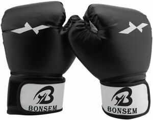 Boxing-Fitness-Gloves-Men-Ladies-Training-Punch-Bag-Sparring-Muay-Thai-Fight