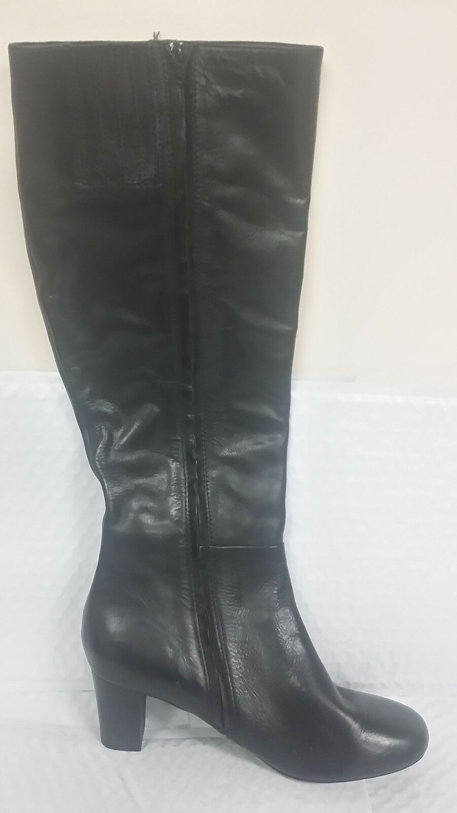 New! Women's J Jill Tall Leather Zip-Up Boots Size 9.5 Black  A69