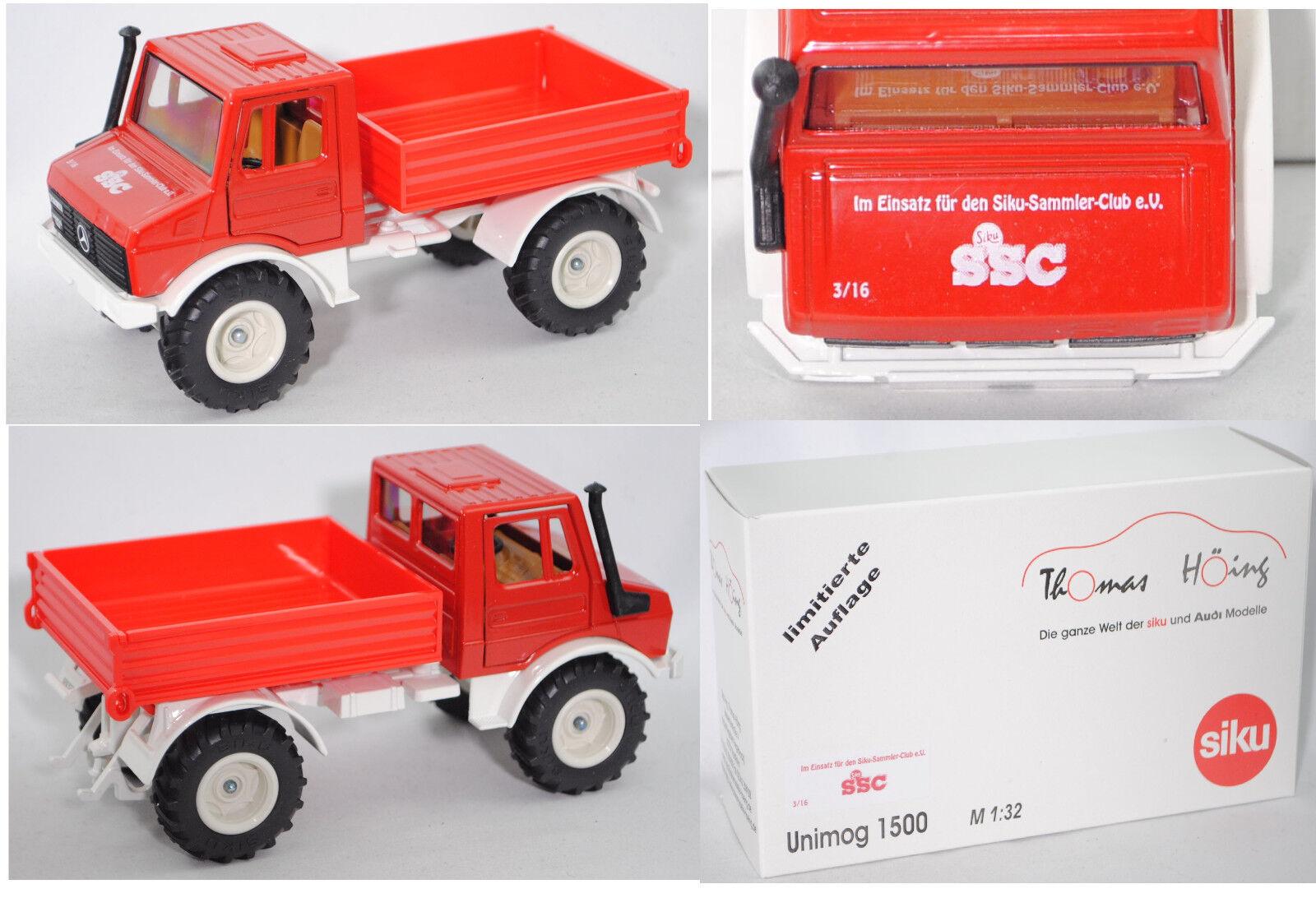 Siku Farmer 3153 00401 MB Unimog U 1500, Rosso, circa 1:32, SSC modello speciale