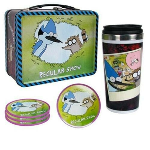 Convention Exclusive Regular Show Tin Tote Gift Set Lunchbox!