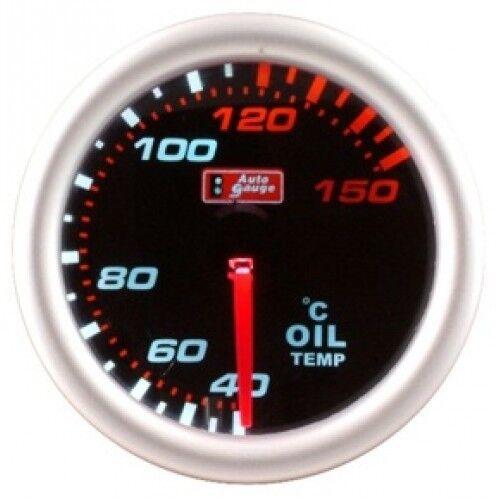 CLEARANCE Stepper Motor Autogauge 52mm Smoked Face Oil Temp Temperature Gauge