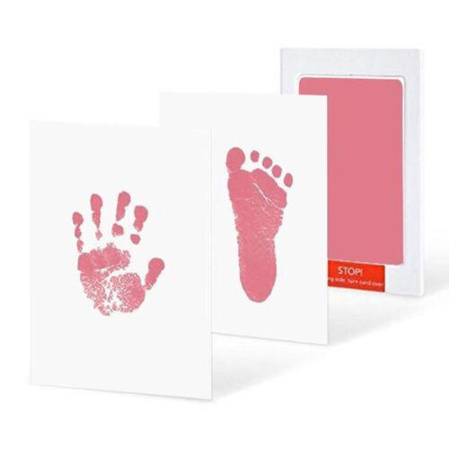 Newborn Baby Impressive Handprint Footprint Ink Pad Kit Non-Toxic Inkless