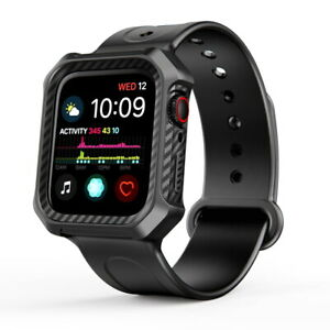 For Apple Watch 4 44mm Shockproof Watch Band With Rugged Protective Armor Case Ebay