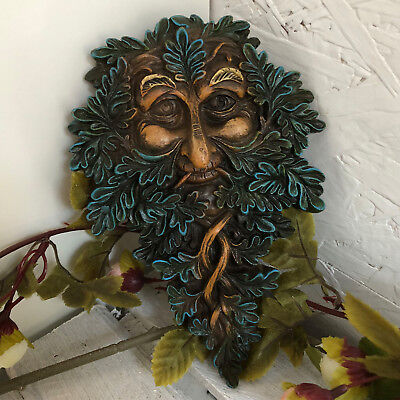 Green Man Tree Spirit Forest Face Garden Wall Hanging Decorative Plaque Ornament