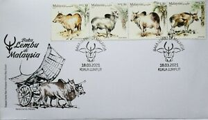 Malaysia FDC with Stamps (18.03.2021) - Cattle Breeds in Malaysia